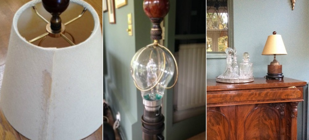 American fitting lampshade recovery service restoration case study aloadofball Gallery