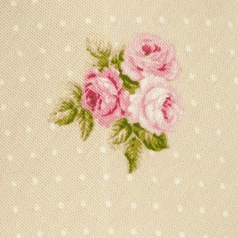 Beige Bouquet Floral Fabric Swatch