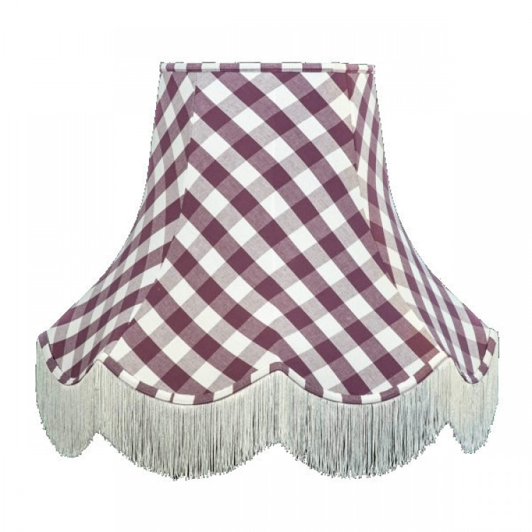 Purple Gingham Check Fabric Lampshades