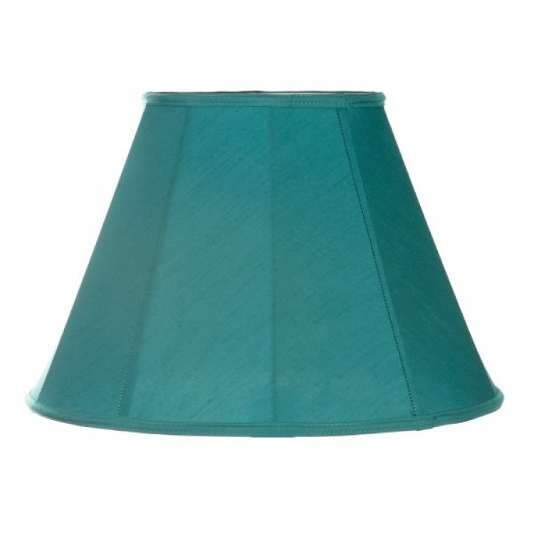 Azure Blue Contemporary Fabric Lampshades
