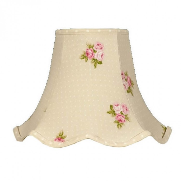 Beige Bouquet Floral Fabric Lampshades