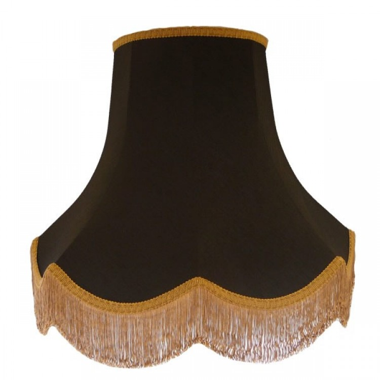 10 Inch Black Gold Fabric Lampshade