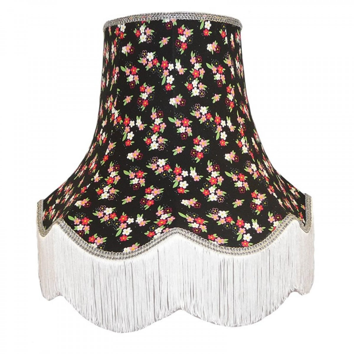 Black silver floral lampshade