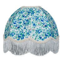 Blue Floral Dome Fabric Lampshades