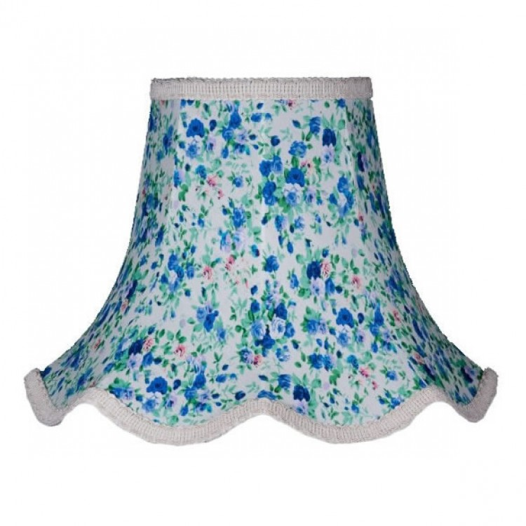 Blue Floral Modern Fabric Lampshades