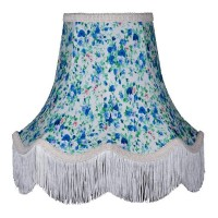 Blue Floral Fabric Lampshades