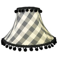Black Gingham Check Empire Fabric Lampshades