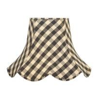 Black Gingham Check Modern Fabric Lampshades
