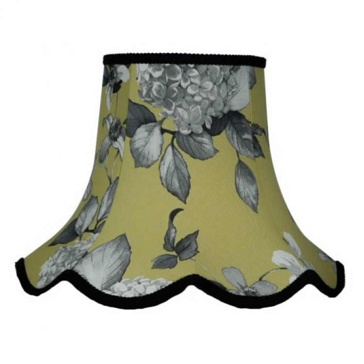 Green Hydrangea Floral Modern Fabric Lampshades