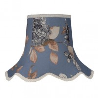 China Blue Hydrangea Floral Modern Fabric Lampshades