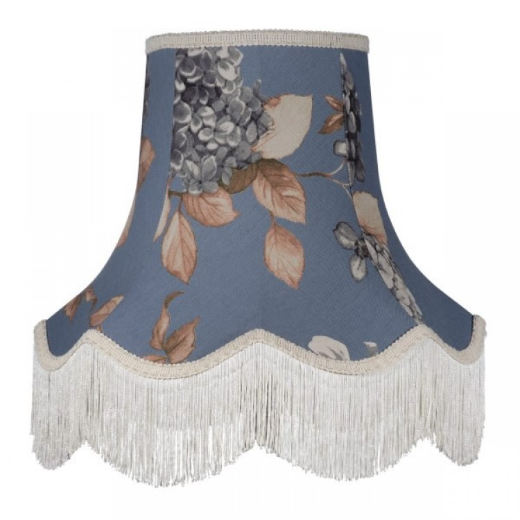 China Blue Hydrangea Floral Fabric Lampshades