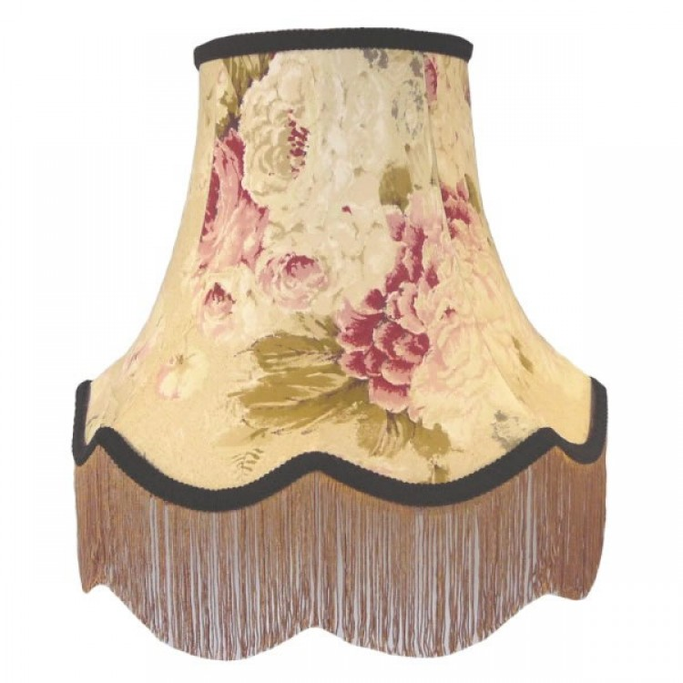Chintz Floral with Black Gold Fabric Lampshades