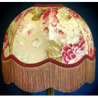 Burgundy Gold Chintz Dome