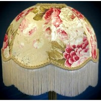 Chintz Floral with Coffee Beige Dome Fabric Lampshades