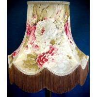 Chintz Floral with Cream and Gold Fabric Lampshades