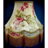 Gold Burgundy Chintz