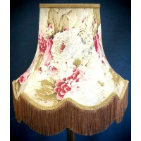 Chintz Floral with Double Gold Fabric Lampshades