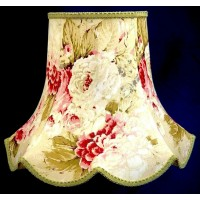 Chintz Floral with Green Modern Fabrc Lampshades