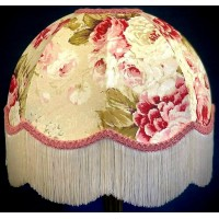 Chintz Floral with Pink Dome Fabric Lampshades