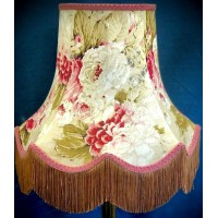 Chintz Floral with Pink and Gold Fabric Lampshades