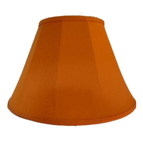 Burnt Orange Contemporary Fabric Lampshades