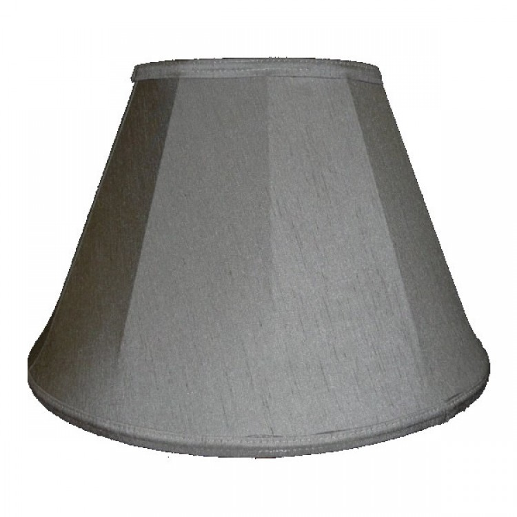 Pewter Grey Contemporary Fabric Lampshades
