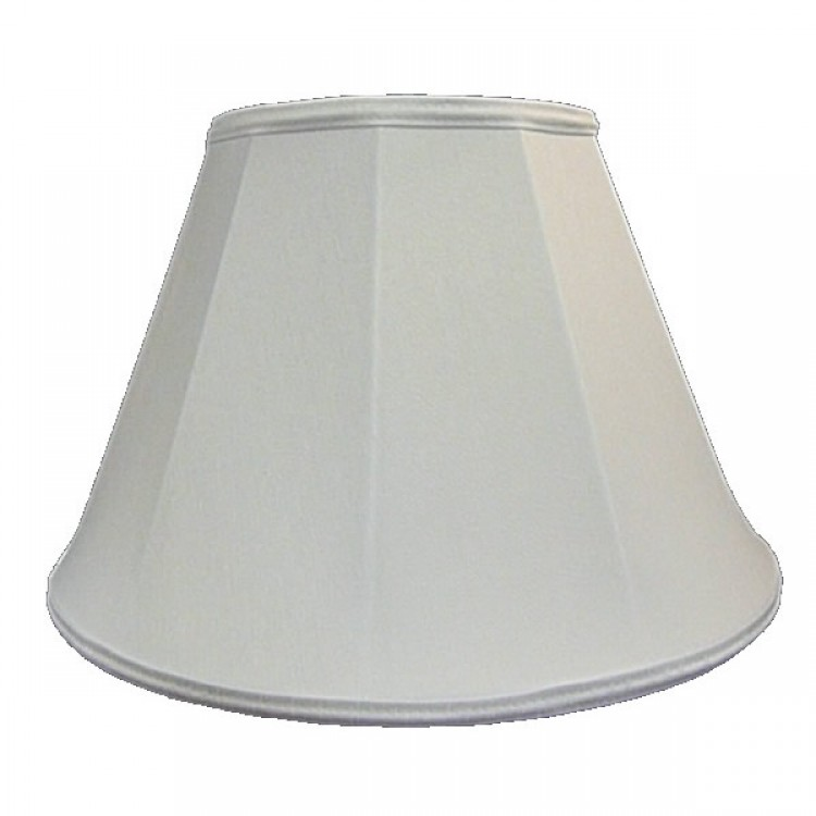 White Contemporary Fabric Lampshades