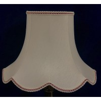 Cream and Burgundy Red Modern Fabric Lampshades