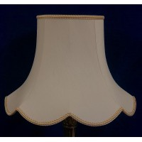 Cream and Gold Modern Fabric Lampshades