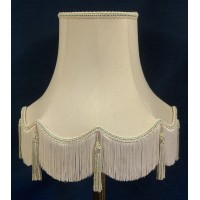Cream and Light Green Fabric Lampshades