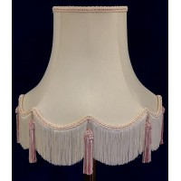 Cream and Pink Fabric Lampshades