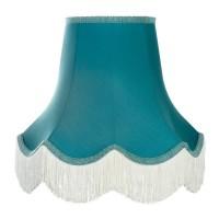 Azure Blue Fabric Lamphsades