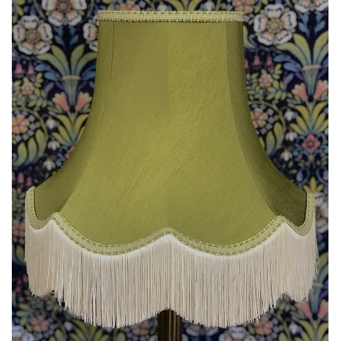 Olive Green Fabric Lampshades