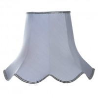 Silver Grey Modern Fabric Lampshades
