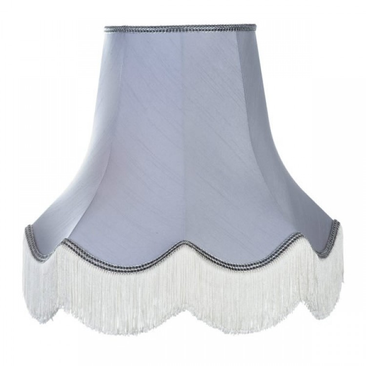 Silver Grey Fabric Lampshades