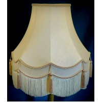 Cream and Coffee Beige Fabric Lampshades