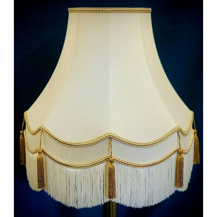 Cream and Gold Fabric Lampshades