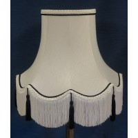Cream and Black Rope Fabric Lampshades