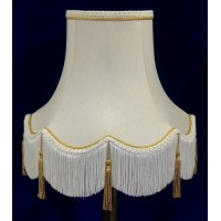 Cream and Gold Tassled Rope Fabric Lampshades