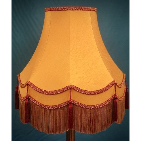 Gold Rosso Red Double Fabric Lampshades