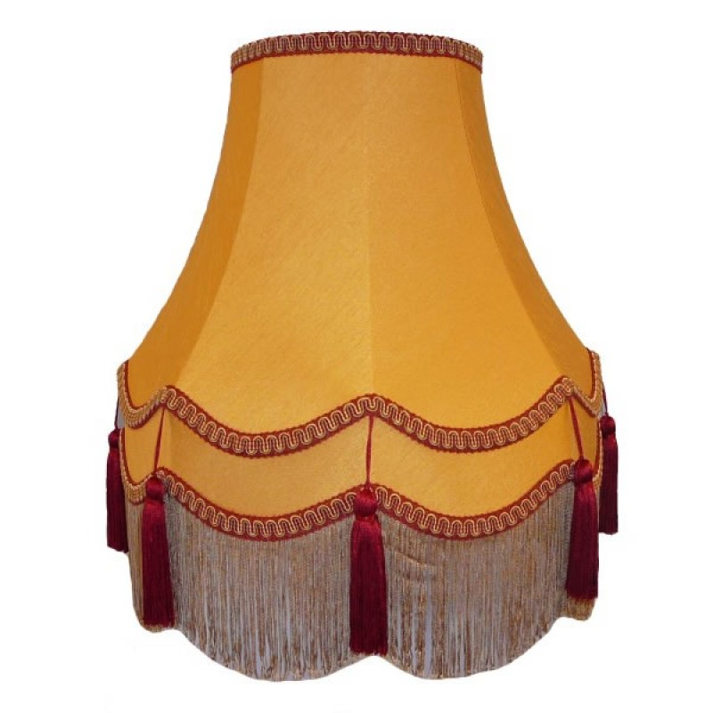 Gold Rosso Double Lampshade