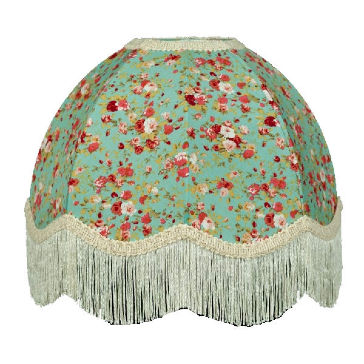 Green Floral Lamp Shade : Green floral dome lampshade