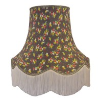 Grey Floral Fabric Lampshades