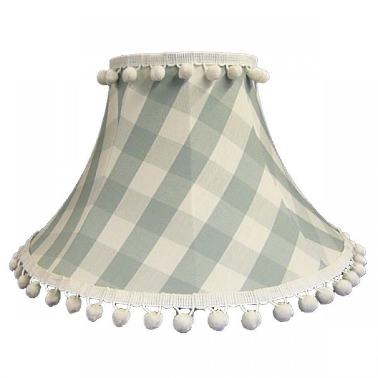 Harbour Blue Gingham Check Empire Fabric Lampshades