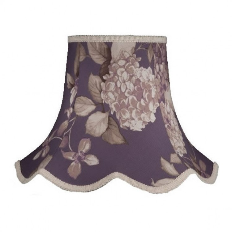 14 Inch Heather Hydrangea Fabric Lampshade