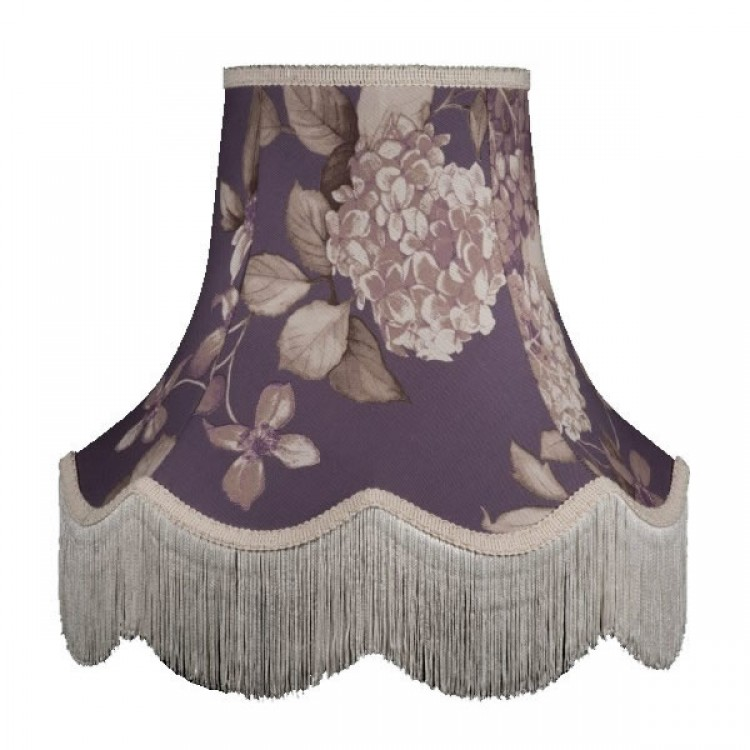 Purple Heather Floral Hydrangea Fabric Lampshades