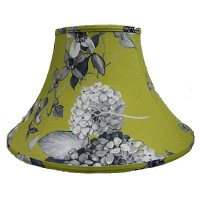 Green Hydrangea Floral Empire Fabric Lampshades