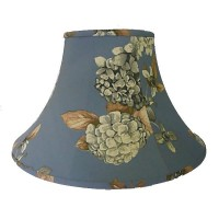 China Blue Hydrangea Floral Empire Fabric Lampshades