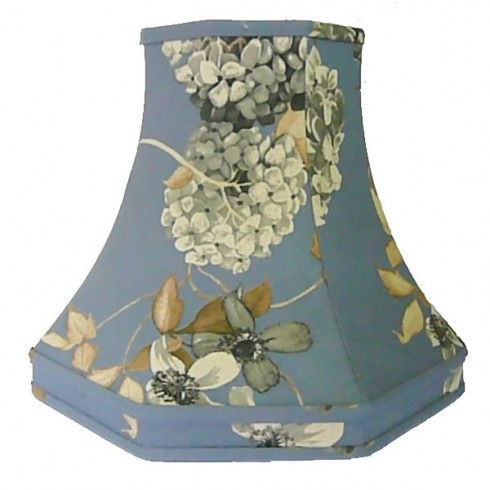 China Blue Hydrangea Floral Octagonal Fabric Lampshades