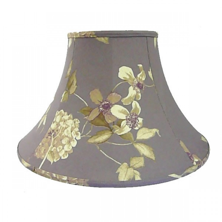 Purple Heather Floral Hydrangea Empire Fabric Lampshades